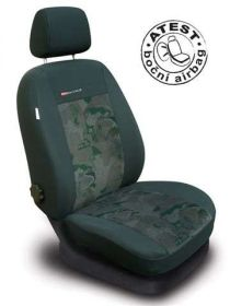 Autopotahy LUX STYLE Škoda Octavia I TOUR, dělená,5.opěrek hlavy,boční airbag, zelené