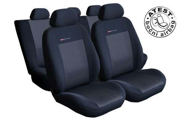 Autopotahy Citroen Berlingo II, 3 místa, od 2008r., černé Vyrobeno v EU