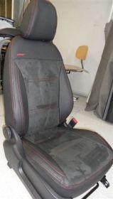 Autopotahy kožené KIA SPORTAGE III, od r. 2010, dělené zadní opěradlo, kůže a alcantara
