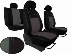 Autopotahy Volkswagen VW Crafter,3 místa, stolek , EXCLUSIVE kožené s alcantarou, sv. šedé