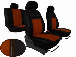 Autopotahy Peugeot Boxer II, 3 místa, stolek, EXCLUSIVE kožené s alcantarou, hnědé