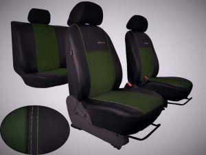 Autopotahy Peugeot Boxer II, 3 místa, stolek, EXCLUSIVE kožené s alcantarou, zelené