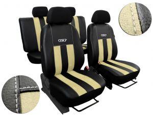 Autopotahy Peugeot Boxer II, 3 místa, stolek, GT kožené s alcantarou, béžové
