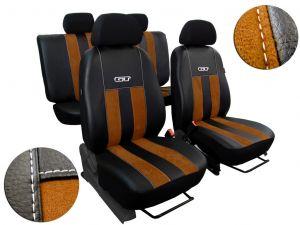 Autopotahy Peugeot Boxer II, 3 místa, stolek, GT kožené s alcantarou, hnědé