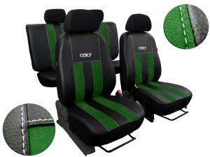 Autopotahy Peugeot Boxer II, 3 místa, stolek, GT kožené s alcantarou, zelené