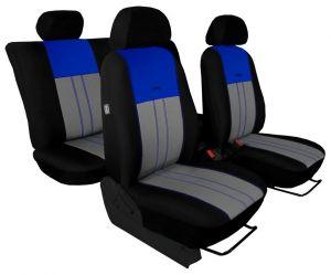 Autopotahy Nissan Qashqai I, bez zadní loketní opěrky, od r. 2006, DUO TUNING modrošedé