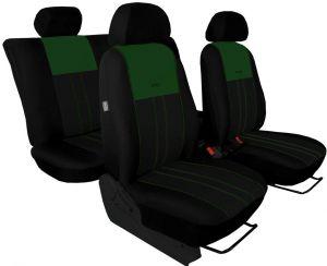 Autopotahy Nissan Qashqai I, bez zadní loketní opěrky, od r. 2006, DUO TUNING zelenočerné