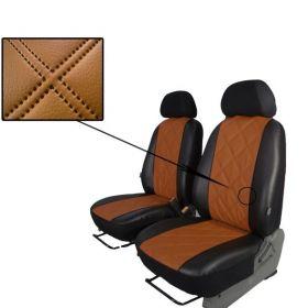Autopotahy Nissan Qashqai I, bez zadní loketní opěrky, od r. 2006-2010, EMBOSSY hnědé