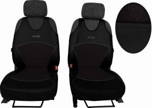 Autopotahy Active Sport kožené s alcantarou, sada pro dvě sedadla, černé