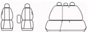 Autopotahy OPEL ASTRA III H,KOMBI,od r.2004, bez zadní loketní opěrky, Dynamic žakar tmavý