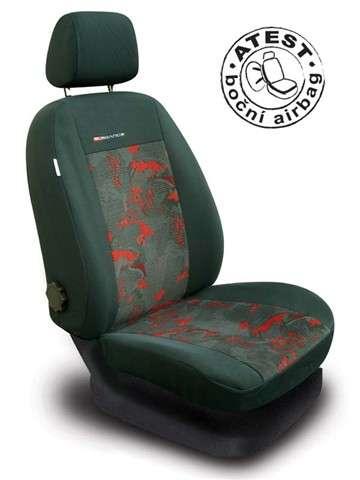 Autopotahy Škoda Octavia I, nedělená,4 opěrky hlavy,boční airbag,LUX STYLE červené Vyrobeno v EU
