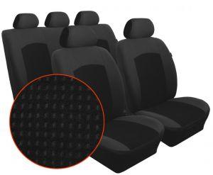 Autopotahy Citroen Berlingo II,3 místa, delené dvojsedadlo,od r. 2008, Dynamic velur černý