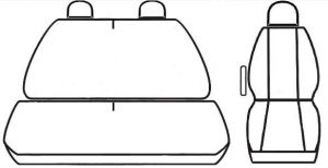 Autopotahy OPEL MOVANO, 3 místa, od r. 1999-2010, Dynamic žakar tmavý