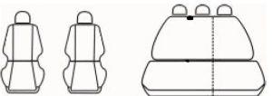 Autopotahy SEAT LEON I SPORT, 5 dveř, od r. 1999-2005, Dynamic žakar tmavý