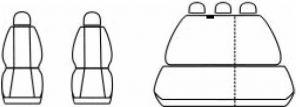 Autopotahy SEAT TOLEDO II, od r. 1998-2004, Dynamic žakar tmavý