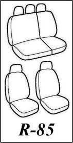 Autopotahy SEAT LEON I , 5 dveř, od r. 1999-2005, Dynamic žakar tmavý