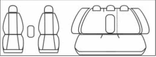 Autopotahy Volkswagen Passat B6 , sedan, od r 2005, Eco kůže + alcantara šedé Vyrobeno v EU