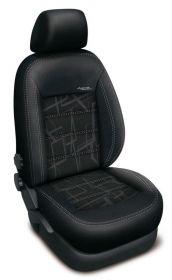 Autopotahy Volkswagen GOLF IV, bez zadní loketní op.od 1997, AUTHENTIC DOBLO, Matrix černý