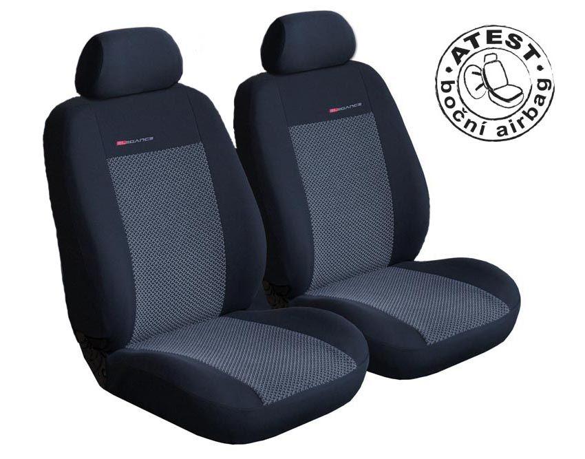 Autopotahy Fiat Doblo III Cargo od r.2009, 2 místa, šedo černé Vyrobeno v EU