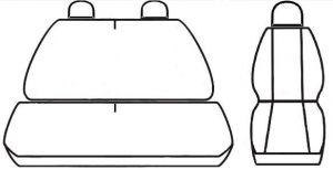 Autopotahy Citroen Jumper I, 3 místný, do r. 2006, Eco kůže + alcantara černé