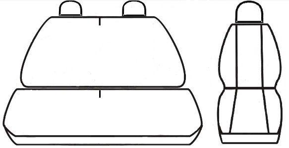 Autopotahy Citroen Jumper I, 3 místný, do r. 2006, Eco kůže + alcantara černé Vyrobeno v EU