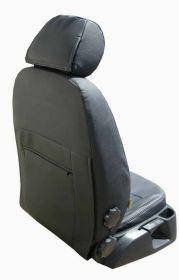 Autopotahy kožené KIA CEED II, od r.2012, bez zadní loketní opěrky, AUTHENTIC VELVET černé