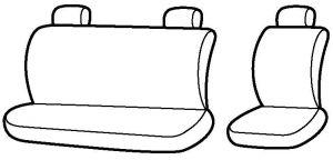 Autopotahy Volkswagen LT, 3 místa, od r. 1996-2006, antracit