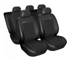 Autopotahy Peugeot 308 SW, 5 míst, od r. 2007, Eco kůže + alcantara černé
