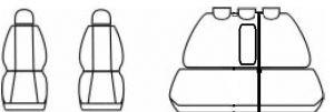 Autopotahy KIA CEED II, od r.2012, AUTHENTIC LEATHER, bíločerné