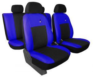 Autopotahy kožené ROAD černomodré