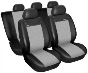 Autopotahy Škoda Octavia III, dělená s loketní op. Eco kůže + alcantara šedé