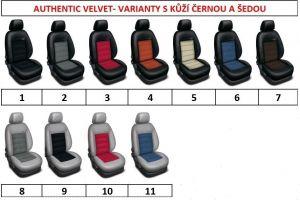 Autopotahy BMW 1 E87, od r. 2004-2011, kožené AUTHENTIC VELVET černomodré