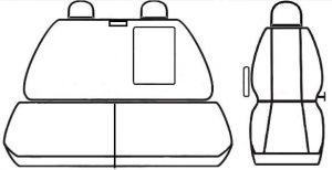 Autopotahy IVECO DAILY, 1+2, od r. 2014, černé Vyrobeno v EU