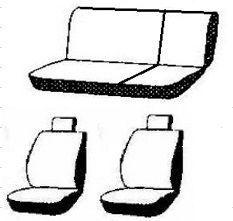 Autopotahy LAND ROVER DEFENDER 110, od r. 1989, AUTHENTIC DOBLO, vlnky černé