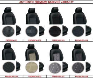 Autopotahy HONDA ACCORD VIII sedan, od r. 2008, AUTHENTIC PREMIUM, matrix černý Vyrobeno v EU