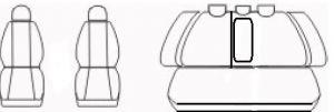 Autopotahy HONDA ACCORD VIII sedan, od r. 2008, AUTHENTIC DOBLO, matrix černý Vyrobeno v EU