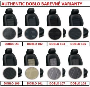 Autopotahy HONDA CIVIC IX, sedan, od r. 2012, AUTHENTIC DOBLO, vlnky černé