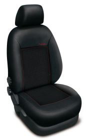 Autopotahy HONDA CIVIC IX, sedan, od r. 2012, AUTHENTIC PREMIUM, žakar červený