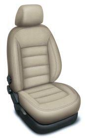Autopotahy HONDA CIVIC IX, sedan, od r. 2012, AUTHENTIC LEATHER, béžové