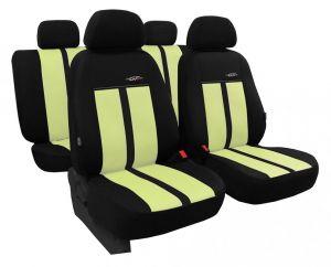 Autopotahy kožené GTR béžovo černé