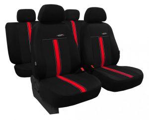 Autopotahy kožené GTR černo červené