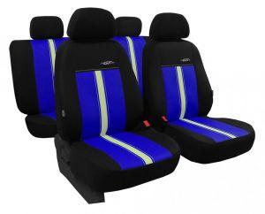 Autopotahy kožené GTR modro béžové