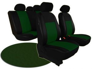 Autopotahy kožené PELLE zelené