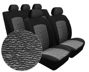 Autopotahy FIAT DOBLO III, 5 míst, od r. 2009, Dynamic velur černý