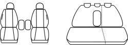 Autopotahy Citroen C5 1 FL 04 - 08r., černé Vyrobeno v EU