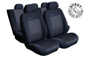 Autopotahy Fiat Panda III, 4 místa, od r. 2011, nedělená, černé
