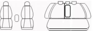 Autopotahy Opel Vectra C, od r. 2002-2008, Eco kůže + alcantara šedé Vyrobeno v EU