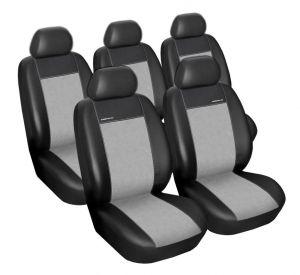 Autopotahy Volkswagen Touran, od r. 2003-2010,  5míst, Eco kůže + alcantara šedé