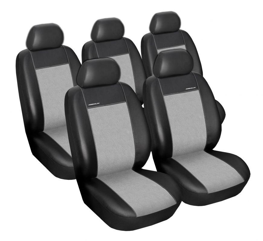 Autopotahy Volkswagen Touran, od r. 2003-2010, 5míst, Eco kůže + alcantara šedé Vyrobeno v EU