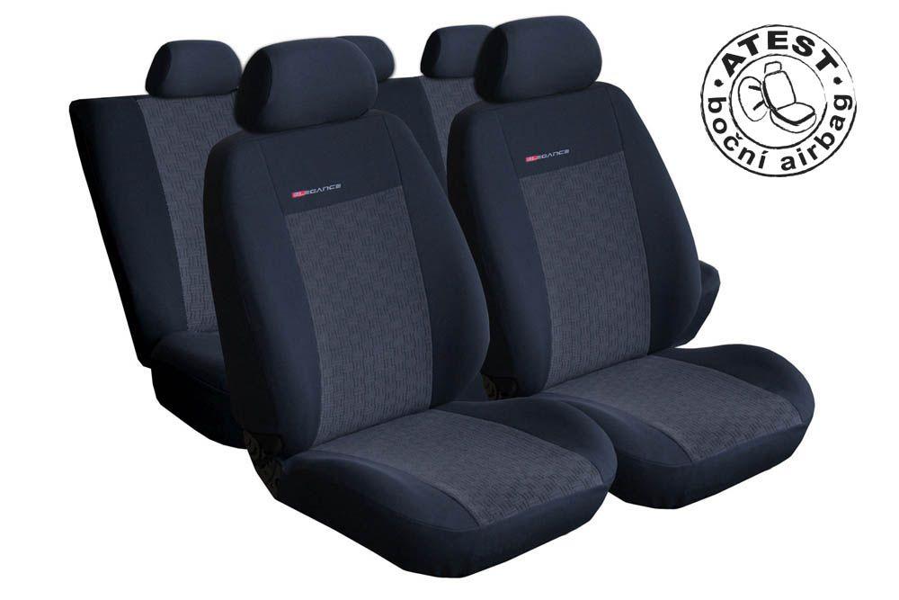 Autopotahy VW Golf VI, dělené zadní opěradlo a sedadlo, zadní lok. op.,od r.2008, antracit Vyrobeno v EU